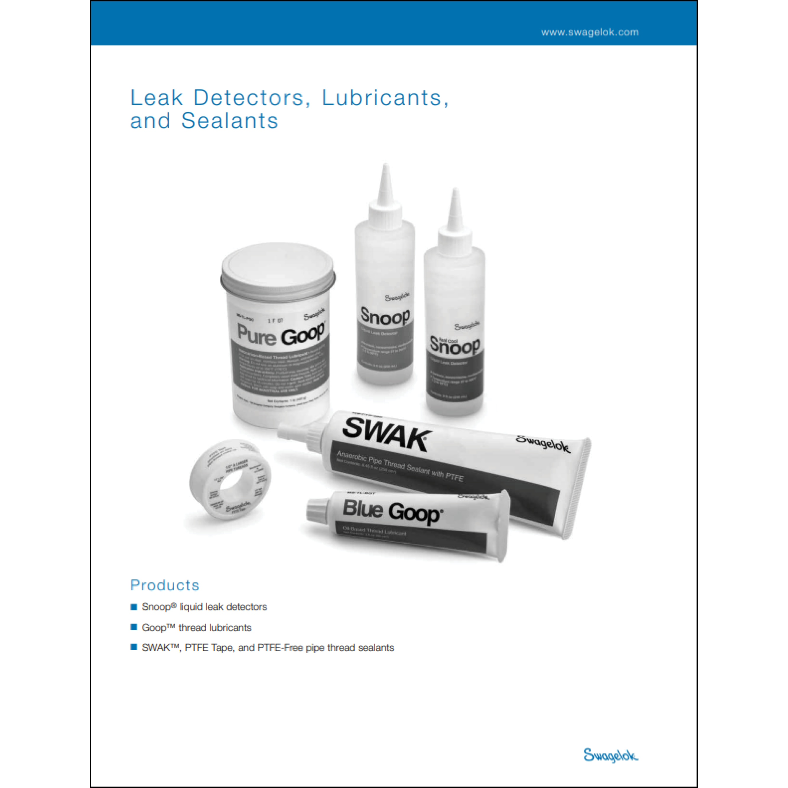 Leak Detectors, Lubricants, and Sealants Catalog